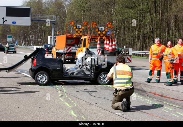 Police germany vehicles patrol car stockfotos