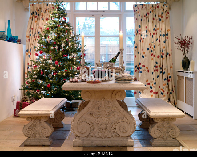 doors with christmas wreaths stockfotos doors with. Black Bedroom Furniture Sets. Home Design Ideas