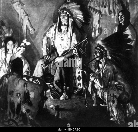 american indians in 19th century stockfotos amp american