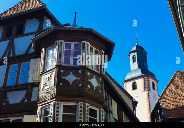 Oriel window france stockfotos oriel window france for Fachwerk winkel