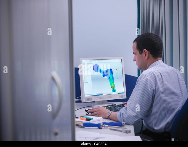 Cad stockfotos cad bilder alamy for Schreibtisch 3d modell