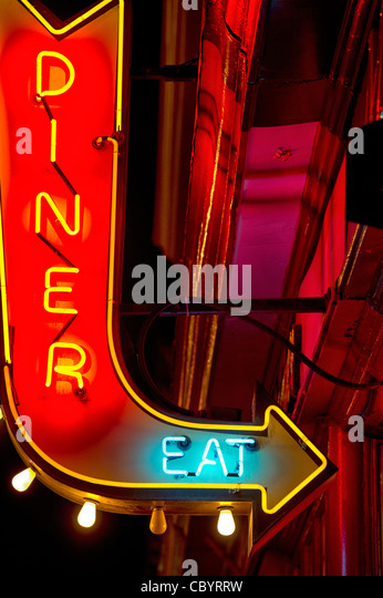 diner by night stockfotos diner by night bilder alamy. Black Bedroom Furniture Sets. Home Design Ideas