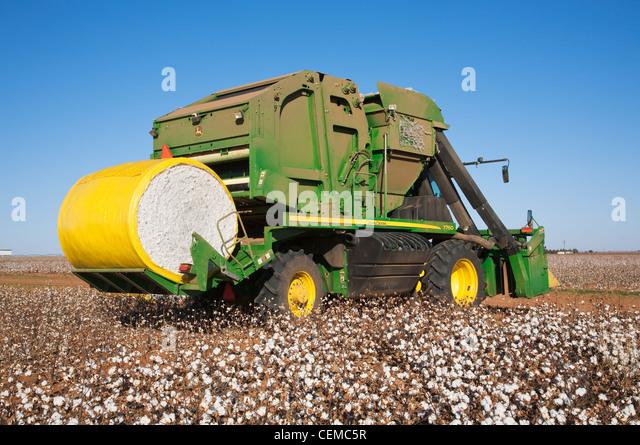 John Deere Baumwollstripper gegen Picker