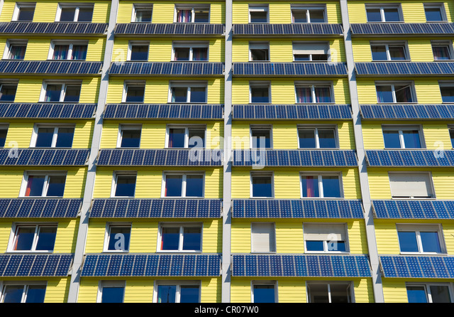 solar cells at facade stockfotos solar cells at facade bilder alamy. Black Bedroom Furniture Sets. Home Design Ideas