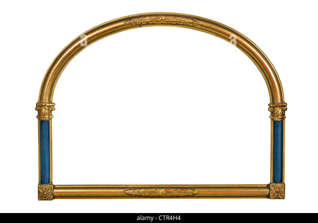 round gold picture frame stockfotos round gold picture frame bilder alamy. Black Bedroom Furniture Sets. Home Design Ideas