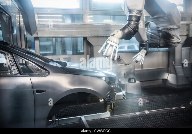 robots car factory stockfotos robots car factory bilder alamy. Black Bedroom Furniture Sets. Home Design Ideas