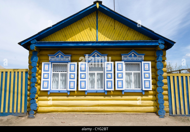 Traditional russian windows russia stockfotos for Traditionelles deutsches haus
