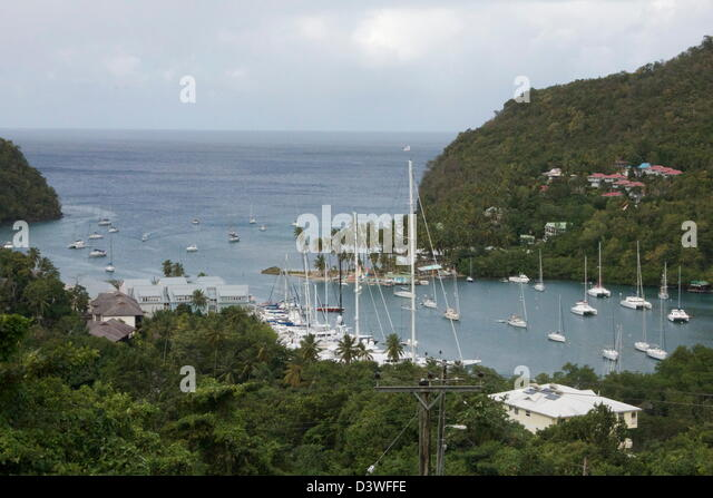 marigot bay saint lucia stockfotos marigot bay saint lucia bilder alamy. Black Bedroom Furniture Sets. Home Design Ideas