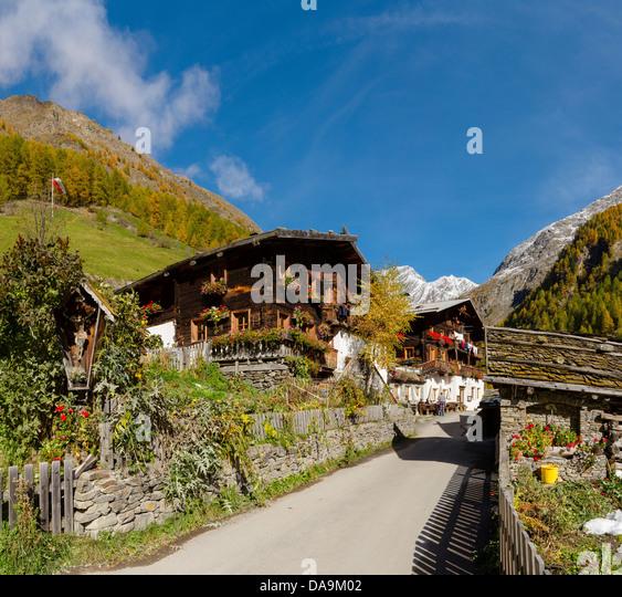 Haus Berge: Pfossental Stockfotos & Pfossental Bilder