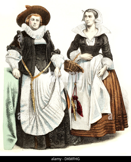 Victorian Costume Illustration Stockfotos & Victorian Costume ...