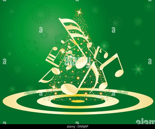 musical christmas tree background vector stockfotos. Black Bedroom Furniture Sets. Home Design Ideas
