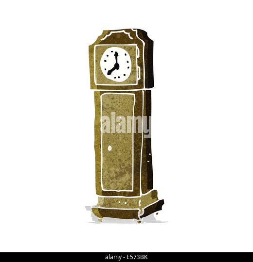 Standuhr gezeichnet  Hand Drawn Cartoon Antique Clock Stockfotos & Hand Drawn Cartoon ...