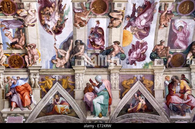 The Creation Of Adam Michelangelo Stockfotos  The Creation Of