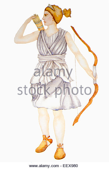 artemis greek goddess hunting stockfotos artemis greek. Black Bedroom Furniture Sets. Home Design Ideas