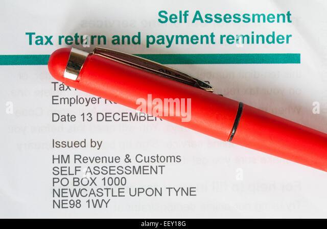 Selbst Beurteilung Steuer Rückkehr Und Zahlung Mahnung Vom Hm