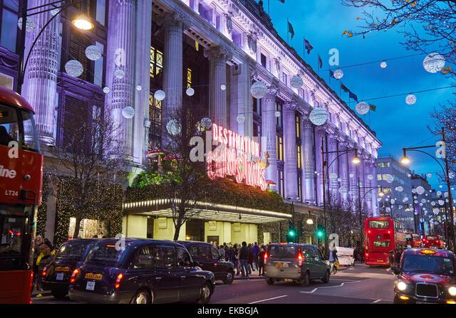 selfridges london oxford street stockfotos selfridges. Black Bedroom Furniture Sets. Home Design Ideas