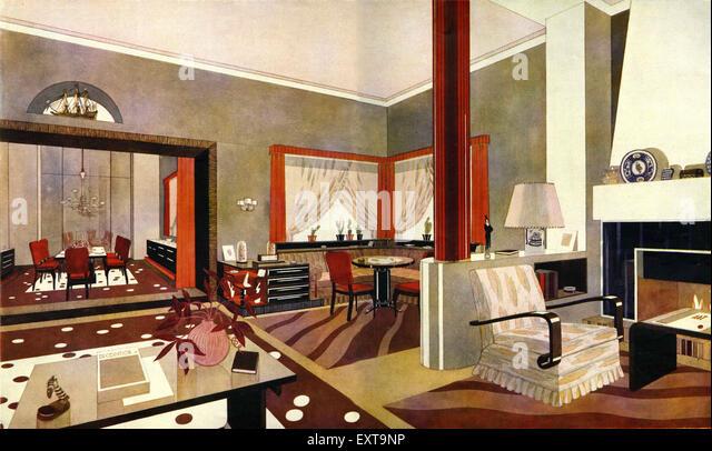 Art Deco Interior Not Theatre Stockfotos & Art Deco Interior Not ...