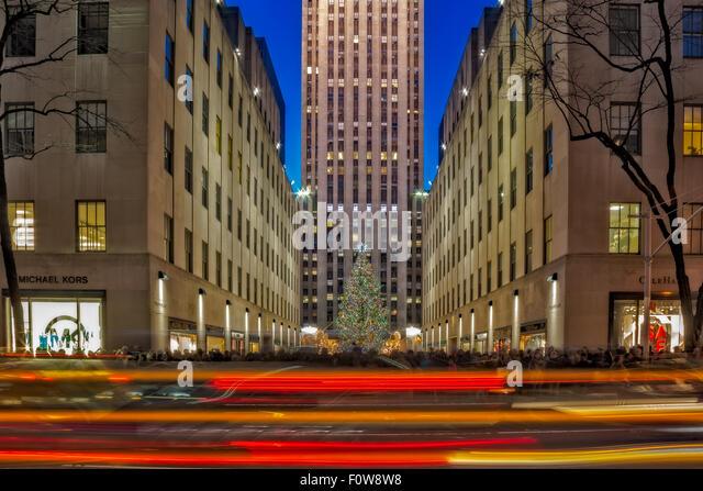 Christmas new york city stockfotos christmas new york city bilder alamy - Weihnachtsbaum rockefeller center ...