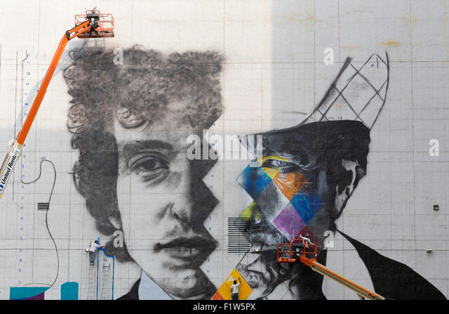 Famous Artist Painting Building Stockfotos & Famous Artist