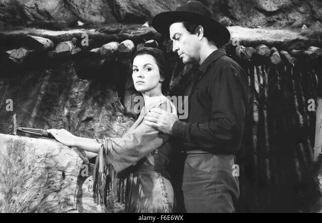 The last hunt 1956 debra paget stockfotos the last hunt for Die letzte metro
