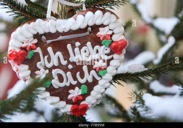 gingerbread heart germany love stockfotos gingerbread heart germany love bilder alamy. Black Bedroom Furniture Sets. Home Design Ideas