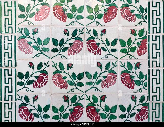 Lisbon typical mosaic stockfotos lisbon typical mosaic - Dekorative wande ...