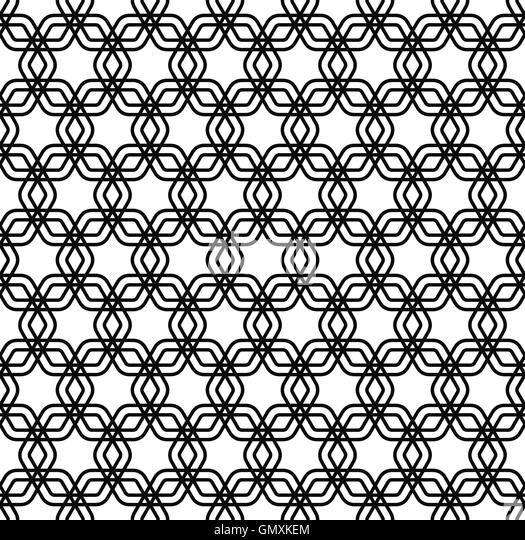 monochromatic seamless curved line pattern stockfotos. Black Bedroom Furniture Sets. Home Design Ideas