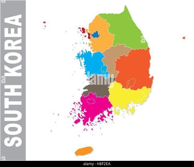 south korea map stockfotos south korea map bilder alamy. Black Bedroom Furniture Sets. Home Design Ideas