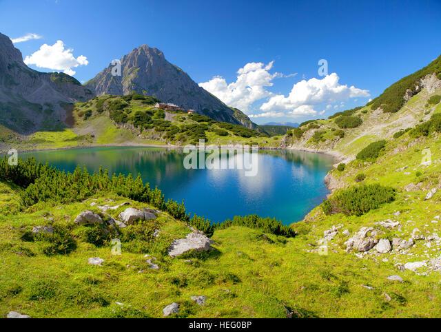 Austria Europe Tyrol Ausserfern Ehrwald Stockfotos