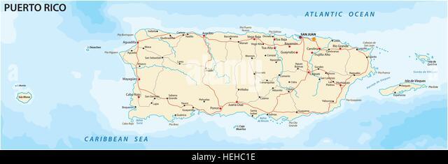 Map Puerto Rico Stockfotos  Map Puerto Rico Bilder  Alamy