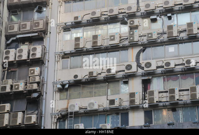 air conditioning hong kong stockfotos air conditioning hong kong bilder alamy. Black Bedroom Furniture Sets. Home Design Ideas
