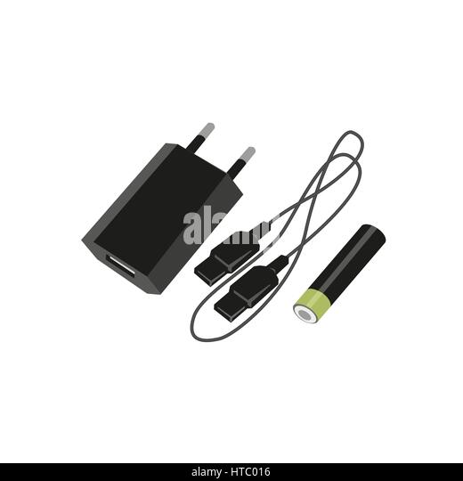 Energy Plug Isolated Icon Stockfotos & Energy Plug Isolated Icon ...
