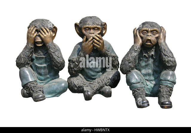 3 wise monkeys stockfotos 3 wise monkeys bilder alamy. Black Bedroom Furniture Sets. Home Design Ideas
