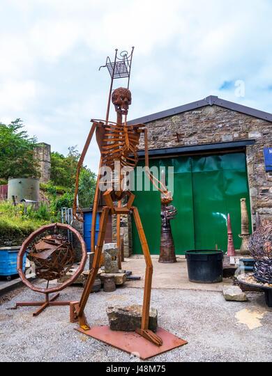 Metall Garten Skulpturen In Dem Kleinen Dorf Pott Shrigley Cheshire