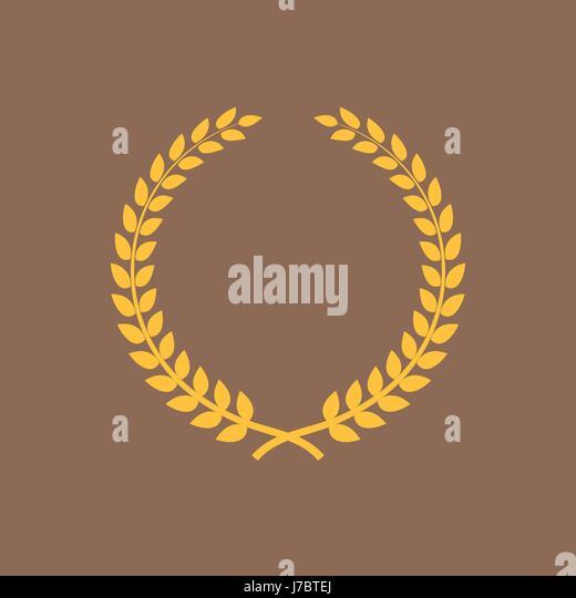 golden laurel award stockfotos golden laurel award. Black Bedroom Furniture Sets. Home Design Ideas