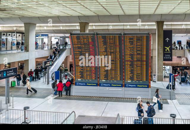 Charles De Gaulle Airport Abflug
