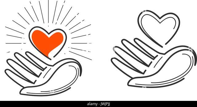 Icon Heart In Hand Stockfotos & Icon Heart In Hand Bilder - Alamy