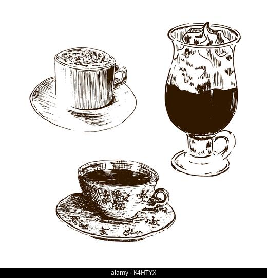 cup drawing cup mug tea drawing stockfotos cup drawing cup mug tea drawing bilder alamy. Black Bedroom Furniture Sets. Home Design Ideas