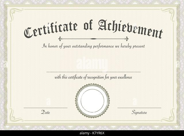 Award Certificate Template Stockfotos & Award Certificate Template ...