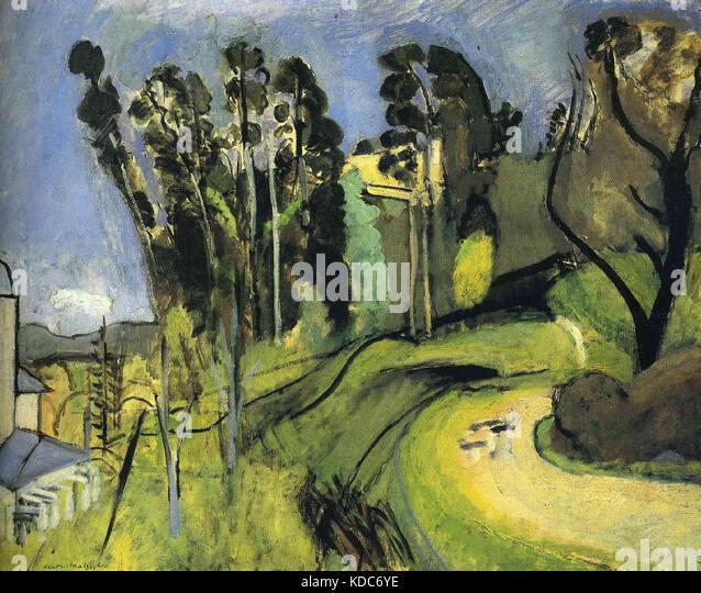 Henri matisse landscape stockfotos henri matisse for Matisse fenetre a tahiti