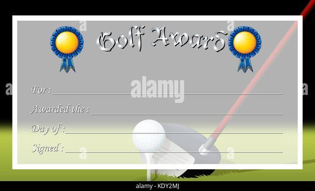Fein Golf Zertifikat Vorlage Ideen - Beispielzusammenfassung Ideen ...