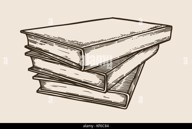 Bücherstapel gezeichnet  Stack Of School Books Vector Stockfotos & Stack Of School Books ...