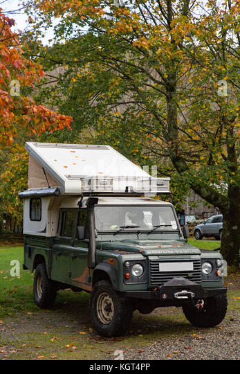 Land Rover 4x4 Camper Van Conversion Stockbild