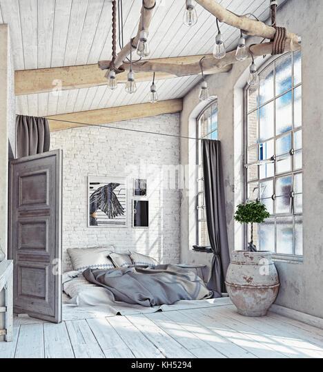 loft conversion bedroom stockfotos loft conversion