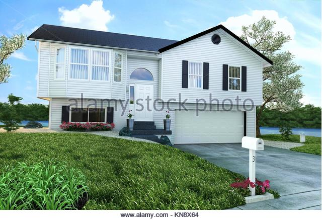 typical american house stockfotos typical american house bilder alamy. Black Bedroom Furniture Sets. Home Design Ideas