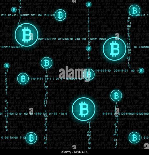 Bitcoin Mining Code Nahtlose Stockbild