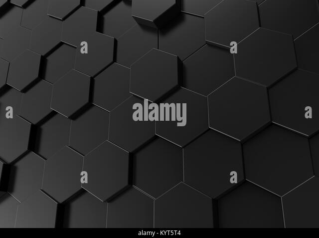 Hexagon wallpaper stockfotos hexagon wallpaper bilder for Schwarze tapete muster