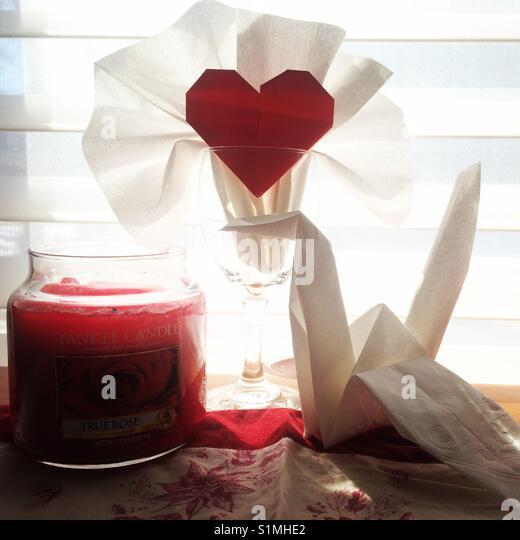 Die Perfekte Valentinstag Datum Setup! Stockbild