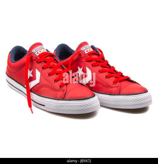 converse chuck taylor cuero rojo