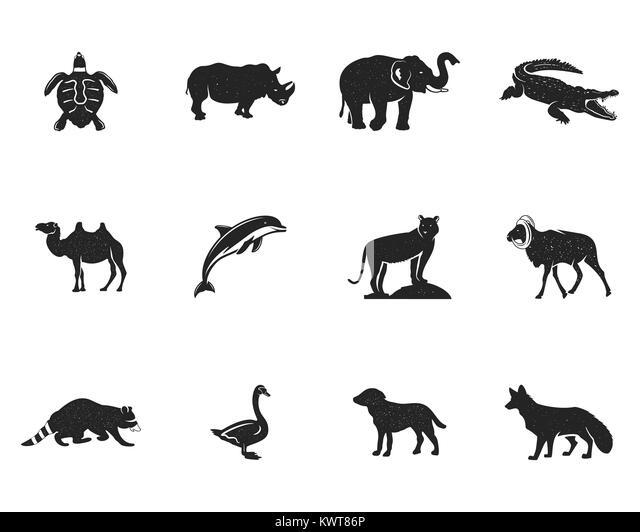 Lobos Perros Siluetas Mamíferos: Wild Goat Illustration Imágenes De Stock & Wild Goat